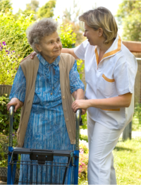 Primary Home Care, nurse providing aged care support